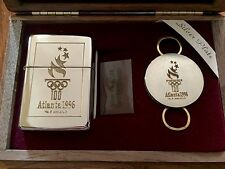 Limited Edition 1996 Atlanta Olympic Games Zippo Lighter (Silver Plate/14K Gold)