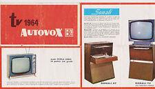 D155-TV AUTOVOX 1964-OPUSOLO -DEPLIANT PUBBLICITARIO