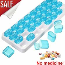 31 Day Monthly Pill Medicine Organizer Tray Daily Pop-Out Pods Travel Pill Boxes