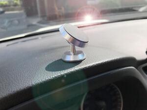 360° Magnetic Car Dash Mount Ball Dock Holder For Cell Phone Universal Aluminium