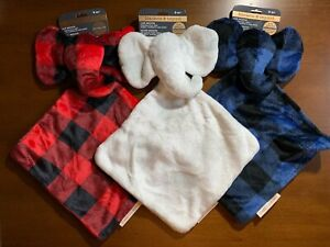 Blankets Beyond Elephant Shaped Security Blanket Choice of Color Plaids New