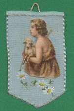Vtg HANDMADE FABRIC DETENTE - BANNER OF CHILD ST. JOHN THE BAPTIST