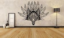 Wall Room Decor Art Vinyl Sticker Mural Decal Tribal Tattoo Fox Beautiful DA066