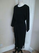 Fabulous LINEA Black Twist Front Tunic Dress ~Size 14~  BNWOT