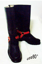 Tsubasa: Reservoir Chronicle Kurogane Halloween Black Long Boots S008