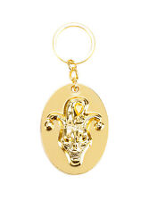 NEW! DC Comics Suicide Squad The Joker Gold Tone Key Chain Ring 3D