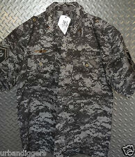 12575/ REGAL MILITARY CAMO COMBAT FORCE SHIRT w/ Patches Badges Medals ~ 3XL