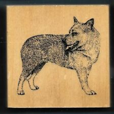 Australian Cattle Dog Breed House Pet Puppy Stamp Gallery New Wood Mount Rubber