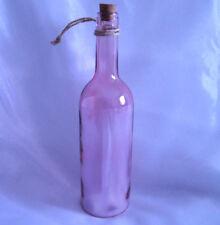 LED Glasflasche Dekoleuchte Lampe Sterne Batterie Dekoration 5 Lichter rosa