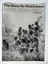 1968 Print Ad Sony TV Television ~ Sun Set for Sun-Lovers