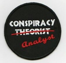 Conspiracy Theorist Analyst embroidered patch astral threads ufo paranormal