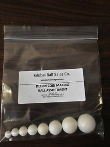 8 Ball Delrin Coin Ring Making and coin ring folding ball assortment