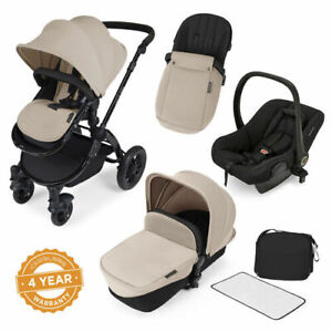 Ickle Bubba StompV2 All-in-One Travel System - Sand With Black Frame