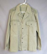 VINTAGE 1940s US Army a spina di pesce Twill Field Jacket M/L