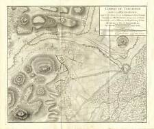 Antique Map-TURCKHEIM-COLMAR-BATTLE 1675-FRANCE-Beaurain-1782