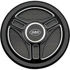S S Cycle S S Cycle Tri-Spoke Stealth Air Cleaner Cover - 170-0210 48-3977