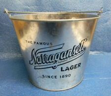 Neat Narragansett Lager Beer Galvanized Metal Ice Bucket Bottle Can Cooler