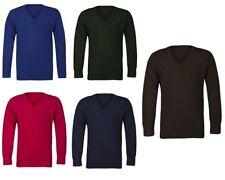 Kids Boys Girls M&S Cotton Rich Longsleeve School Jumper Uniform Casual Sweater