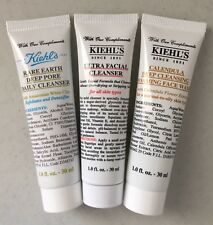 LOT 3 Kiehl's Rare Earth, Ultra Facial Cleanser, Calendula Face Wash 1 of Each