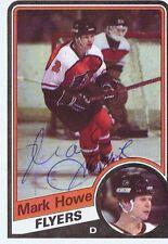 Mark Howe 1984 Topps Autograph #118 Flyers