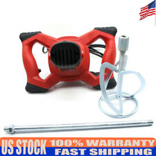 1500W Hand Hold Electric Mortar Mixer Cement Paint Concrete Plaster Drill 110V