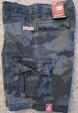 NEW tag Arizona Jean Cargo Camo Shorts Adjustable Waist Boys Young Men Husky 12