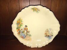 J & G Meakin Sunshine - Handled Cake Plate, Lord Nelson Design