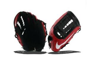 NIKE Vapor V360 Hyperfuse Atomic Black Red RHT Baseball Glove 12.75 BF1665
