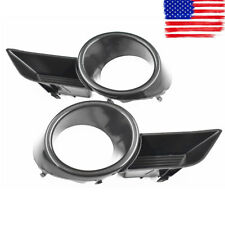 A Pair Front Bumper Fog Light Grille Cover Trim Fit  For 08-10 Toyota Highlander