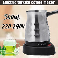 Electric Coffee Maker Pots Kettle Latte Turkish Espresso Percolator Stainless