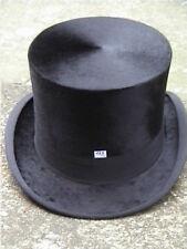 Excelente Burton Negro Seda Top Hat Talla 7 3/8...