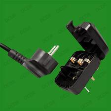 Puesta A Tierra Schuko euro a Reino Unido 3 Pin red fusiona Plug Converter Adaptador De Viaje