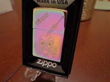 ZIPPO SKULL & CROSSBONES WITH DAGGER IN HEAD SPECTRUM ZIPPO LIGHTER MINT IN BOX
