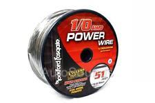 Rockford Fosgate RFW1B-51 Frosted Black 51 Foot Spool 1/0 Gauge AWG Power Wire