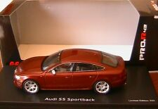 AUDI S5 SPORTBACK  2010 METAL RED SCHUCO PRO R 08806 1/43 SPORTIVE ROUGE METAL