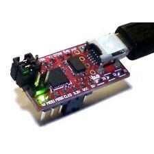 Breadboard USB TTL serial conv AVRISP mkII AVR programmer 5V 3.3V ISP PDI DIL-12