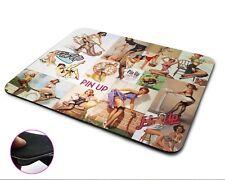 Le Ragazze Pinup Vintage Classic Premium Qualità flessibile gomma Tappetino Mouse, Mouse Pad