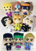 9pcs JoJo's Bizarre Adventure Plush Doll Rohan Kishibe Yoshikage Kira Josuke new