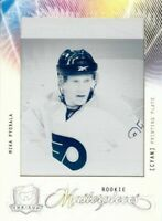 Mika Pyorala 09-10 UD The Cup RC Rookie Masterpieces Cyan Press Plate 1/1