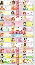 45 DISNEY PRINCESSESS Personalised Name Stickers,Labels,Tags,