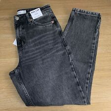 BNWT Topshop Washed Black Mom Jeans - W26 L28 - UK 8 Petite