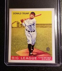 2021 DONALD TRUMP 1933 GOUDEY VINTAGE STYLE ACEO ART BASEBALL CARD /50
