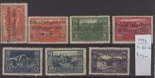 [ZZA-027]  -  Albania  -  1925  -  Repubblica , Sovrastampati : 7 val.   *  MLH