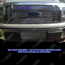 Fits 2009-2012 2011 Ford F-150 Lariat/King Ranch Billet Grille Combo Insert