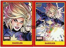 2021 UD Marvel Ages Mid-Series Base + Photo Variant Card Set #145 Dazzler