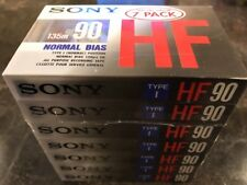 7 PACK NEW SONY 135m 90 HF TYPE 1 NORMAL BIAS CASSETTE TAPE FREE PRIORITY SHIP