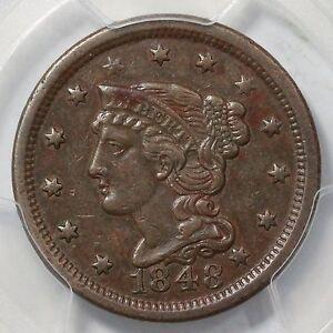 1848 N-20 R-3- PCGS XF 45 Braided Hair Large Cent Coin 1c