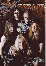 Saxon   Musik Band  13 x 18 cm Foto original signiert 408813