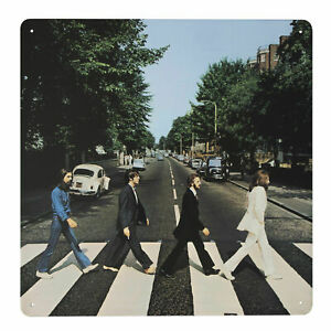 The Beatles ABBEY ROAD Metal Wall Sign Retro Tin Steel Plaque Bar Retro Gift