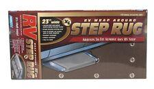 "RV Camco 42931 23"" Adjustable XL Wrap Around Brown Step Rug"